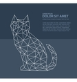 Print polygonal cat vector image