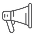 promotion line icon megaphone and communication vector image