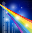 Rainbow Color Abstract Transparent Background vector image
