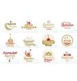 Ramadan kareem typographic design set vector image