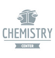 research lab logo simple gray style vector image vector image