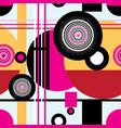 seamless graphic pattern geometric circular vector image vector image