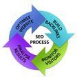 SEO Process Circle vector image vector image