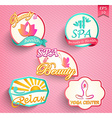 Set of spa and beauty vector image