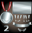 Silver elements for games and sports vector image vector image