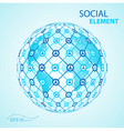 social element globe worldwide vector image vector image
