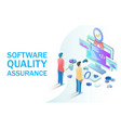 software quality assurance concept for web vector image