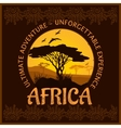 South Africa - unforgettable trip vector image