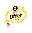 speech balloon with best offer vector image vector image