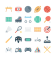Sports and Games Colored Icons 1 vector image vector image