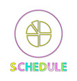 statistical schedule isolated on white background vector image vector image