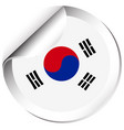 sticker design for flag of south korea vector image vector image