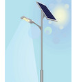 street light with solar panels vector image vector image