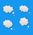 talk dialog cloud vector image vector image