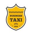 Taxi logo badge vector image vector image