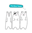 the bear team set of cute bear vector image vector image