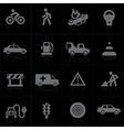 Traffic application icons vector image vector image