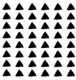triangle seamless hand drawn pattern black vector image