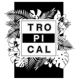 Tropical paradise T-shirt or poster design print vector image