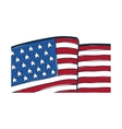 USA flag emblem vector image