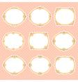 vignette frames color vector image vector image