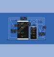 web development programming vector image vector image