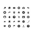 web interface solid icon set vector image vector image
