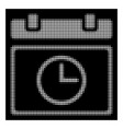 white halftone date time icon vector image vector image