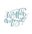 winter magic blue christmas vintage calligraphy vector image vector image