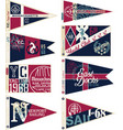 yachting club nautical pennant flags vector image vector image