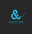 Online education logo concept university learning vector image