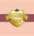 exclusive premium quality golden label since 1980 vector image