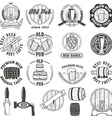 Set of beer labels badges and design elements vector image