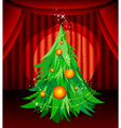 christmas tree on stage vector image