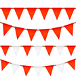 Set of ropes with flags Elements for your design vector image