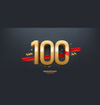 100th year anniversary background vector image