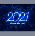 2012 blue neon happy new year background design vector image