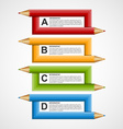 Abstract education pencil option Infographics vector image vector image