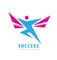 active human character - business logo vector image vector image