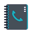 address book symbol isolated blue lines vector image vector image
