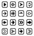 Arrow icons1 vector image