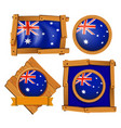 australia flag on different frame designs vector image vector image