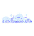 bangkok skyline thailand big city buildings vector image