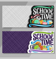 banners for school vector image