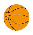 basketball ball isolated icon design vector image vector image