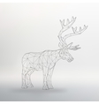 big buck The structural grid vector image vector image