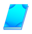 blue book isolated on white background vector image vector image