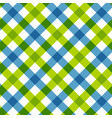 blue green diagonal checkered retro tablecloth vector image vector image
