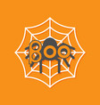 boo text spider round web flat vector image vector image