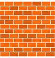 Brick wall seamless pattern red background vector image